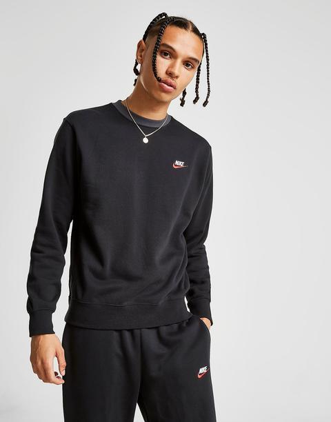 Corte perdonar ladrar  Nike Foundation Crew Sweatshirt - Black - Mens from Jd Sports on 21 Buttons