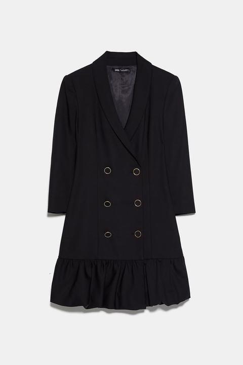 Vestido Blazer Pliegues de Zara en 21 Buttons