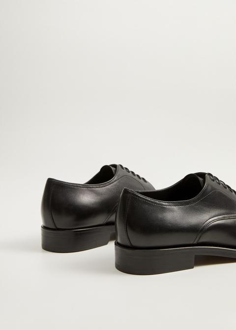 Zapato Blucher Piel Negro