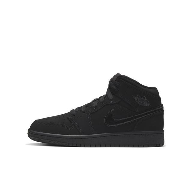 Chaussure Air Jordan 1 Mid Pour Enfant Plus Âgé - Noir from Nike ...
