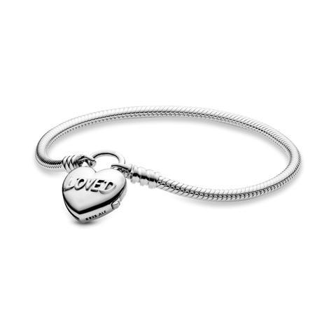 Pulsera Moments En Plata De Ley Corazón Amado de Pandora en 21 Buttons