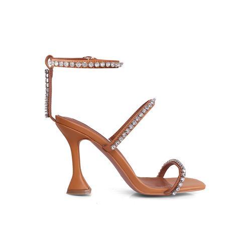 Bader Diamante Ankle Strap High Heel Sandals