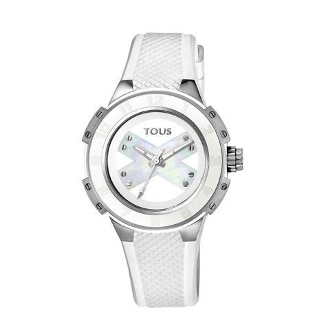 Reloj Xtous Lady De Acero Con Correa De Silicona Blanca de Tous en 21 Buttons