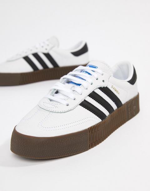 Zapatillas En Blanco Y Negro Samba Rose De Adidas Originals