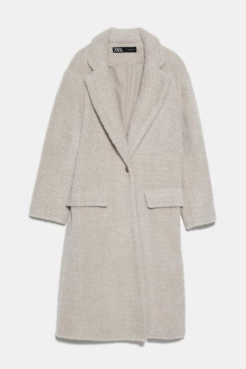 Abrigo Espiga Efecto Pelo de Zara en 21 Buttons