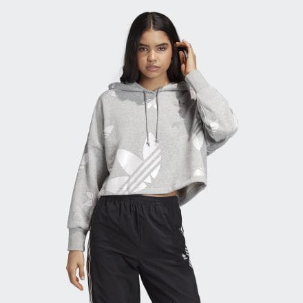 Sudadera Con Capucha Cropped Large Logo de Adidas en 21 Buttons