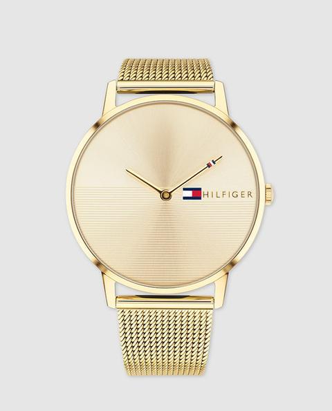 Tommy Hilfiger - Reloj De Mujer 1781972 De Malla De Acero Dorado