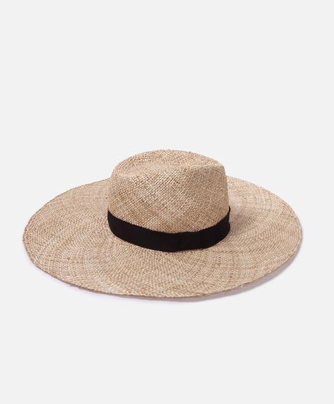 Sombrero De Paja Color: Crudo Talla: M Material: Paja,