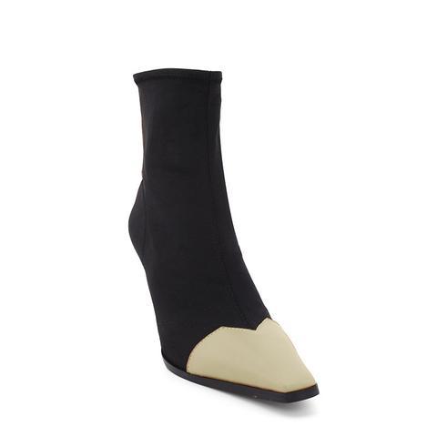 Karos Back Zip Bi-color Ankle Boots