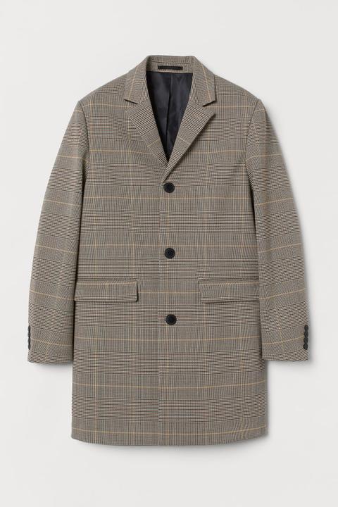 Abrigo Estampado - Beis de H&M en 21 Buttons