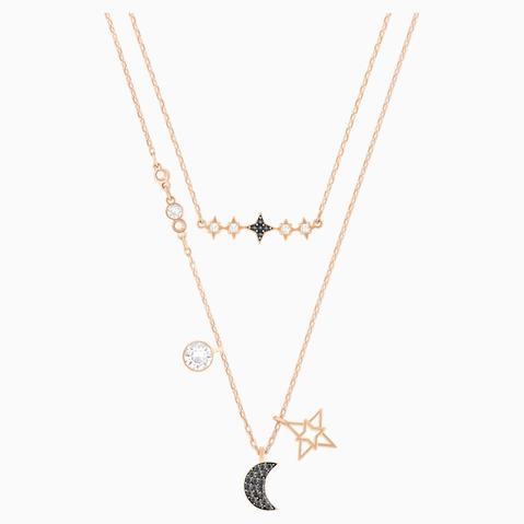 Conjunto De Collares Swarovski Symbolic Moon, Multicolor, Combinación De Acabados Metálicos de Swarovski en 21 Buttons