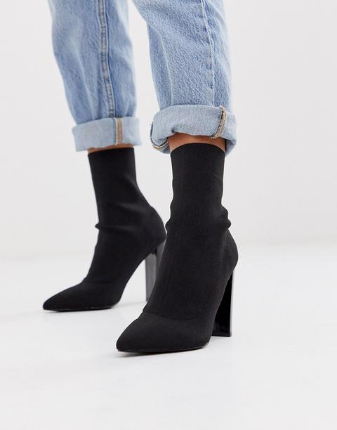 Asos Design Enhance Block Heel Sock