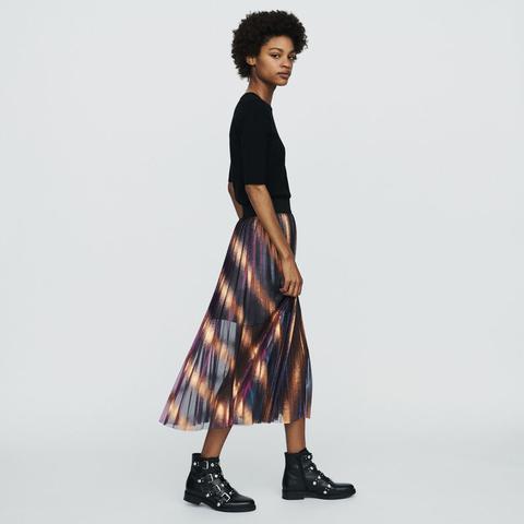 jupe maje longue rayée