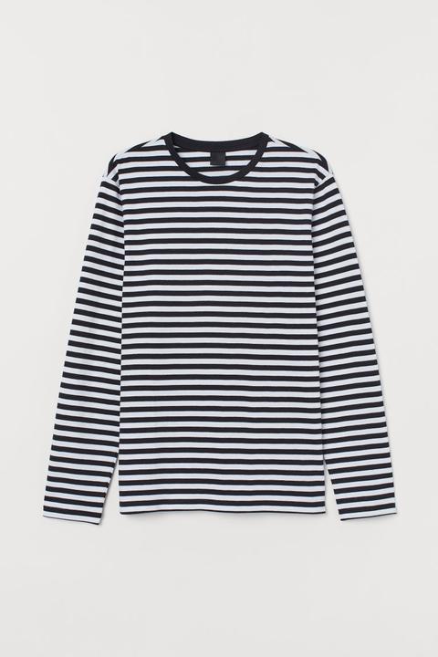 Camiseta De Rayas - Blanco