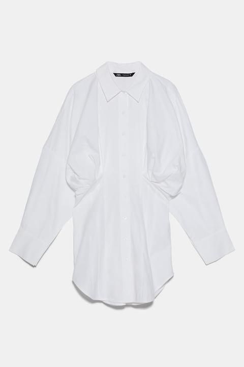 Camisa Popelín Pliegues
