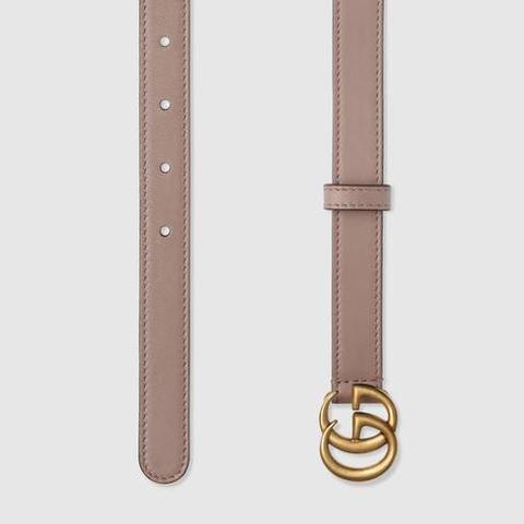 Cinturón De Piel Con Hebilla De Doble G