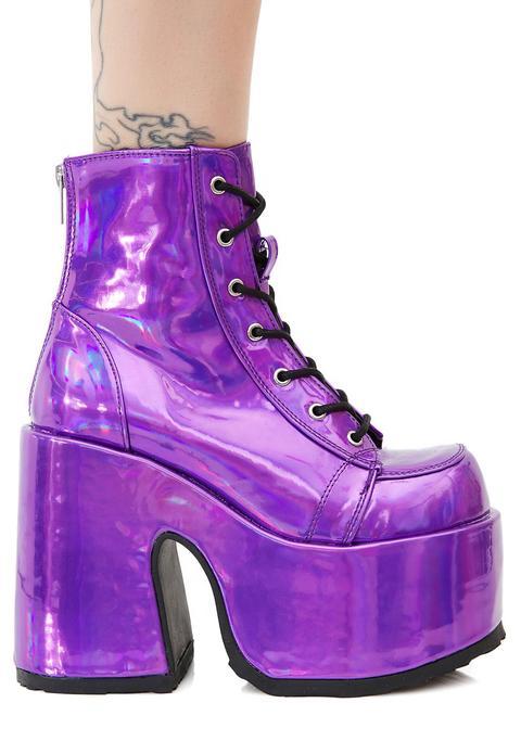 Rave Royalty Platform Boots de Dolls Kill en 21 Buttons
