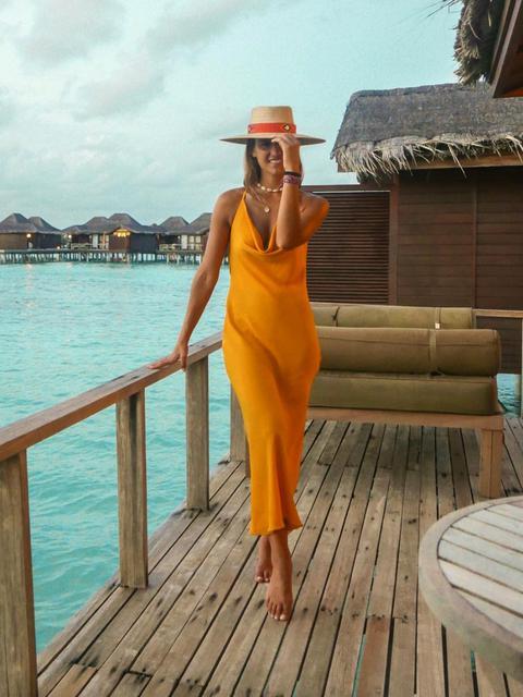 Vestido Naranja Slip On de KAOA en 21 Buttons