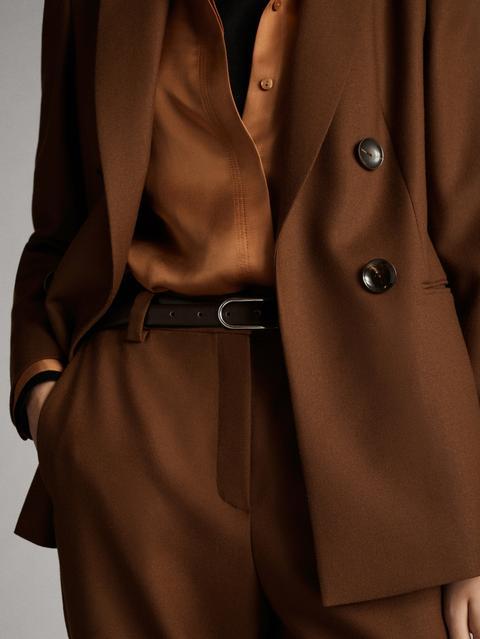 Americana Falso Cruce 100% Lana de Massimo  Dutti en 21 Buttons