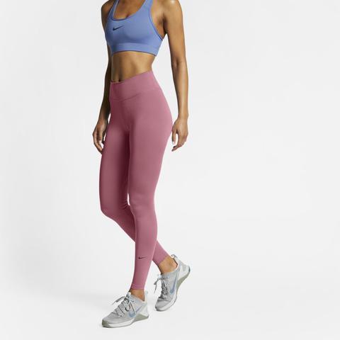 Nike One Leggings De Talle Medio - Mujer - Rosa
