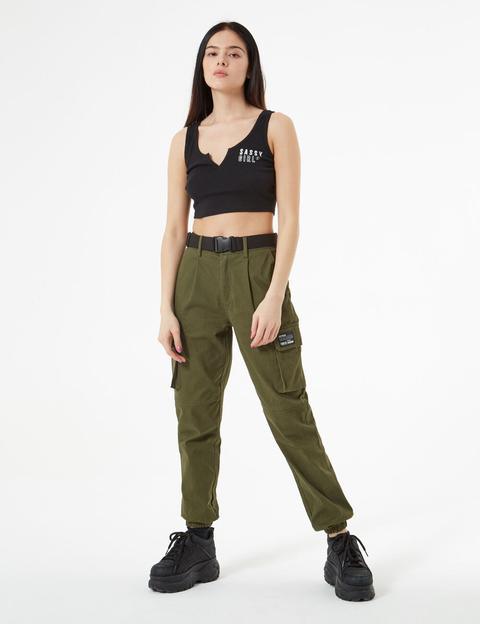 Pantaloni Stile Cargo di Jennyfer su 21 Buttons
