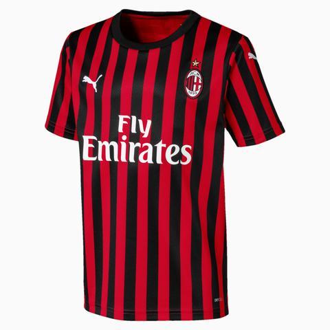 Camiseta De La Primera Equipación De Réplica De Niños Ac Milan, Bronce/negro/rojo, Talla 140 | Puma de Puma en 21 Buttons