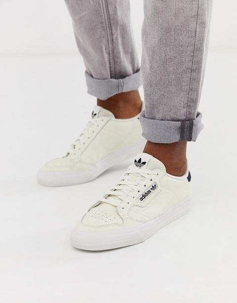 Zapatillas De Deporte De Cuero Color Hueso Continental 80 Vulc De Adidas Originals-blanco de ASOS en 21 Buttons