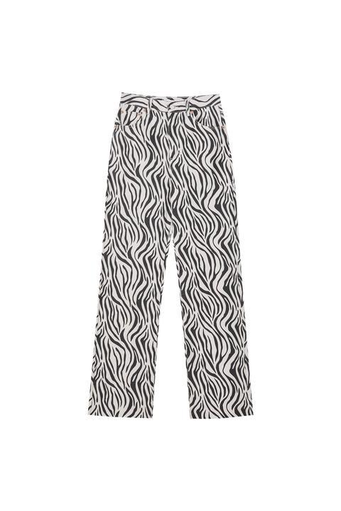 Pantalón Estampado Cebra Recto