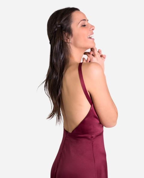 Vestido Odette · Burdeos