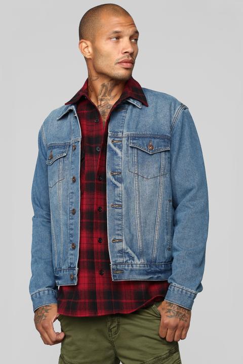 880b724b9 Good In The City Denim Jacket - Medium Blue Wash from Fashion Nova on 21  Buttons