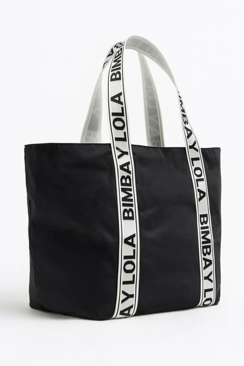 Bolso Shopper Xl Nylon Negro