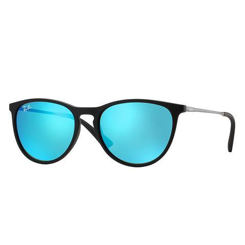 Izzy Unisex Sunglasses Lentes: Azul, Montura: Negro de Ray-Ban en 21 Buttons