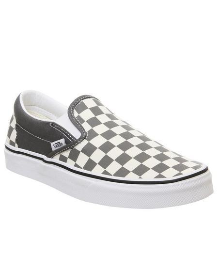 Vans Classic Slip On Pewter White