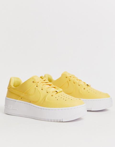 Nike Yellow Air Force 1 Sage Low