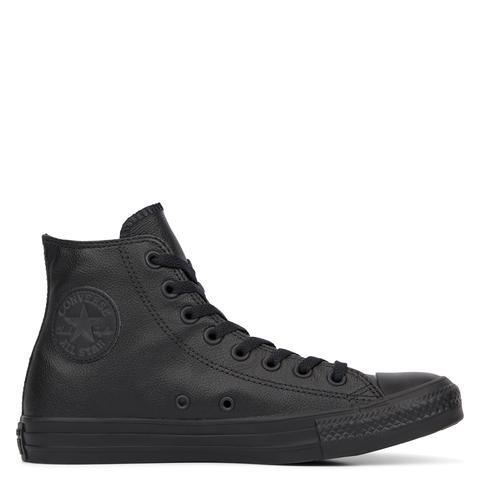 converse black mono leather