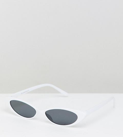 Glamorous Slim White Cat Eye Sunglasses