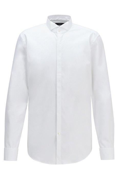 Camisa Business Slim Fit En Puro Algodón de Hugo Boss en 21 Buttons