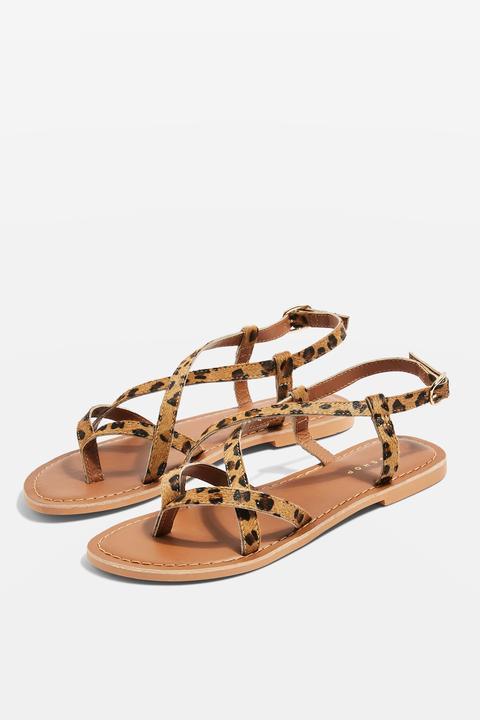 womens animal print sandals