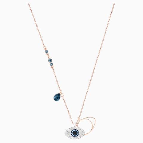 Colgante Swarovski Symbolic Evil Eye, Azul, Combinación De Acabados Metálicos de Swarovski en 21 Buttons