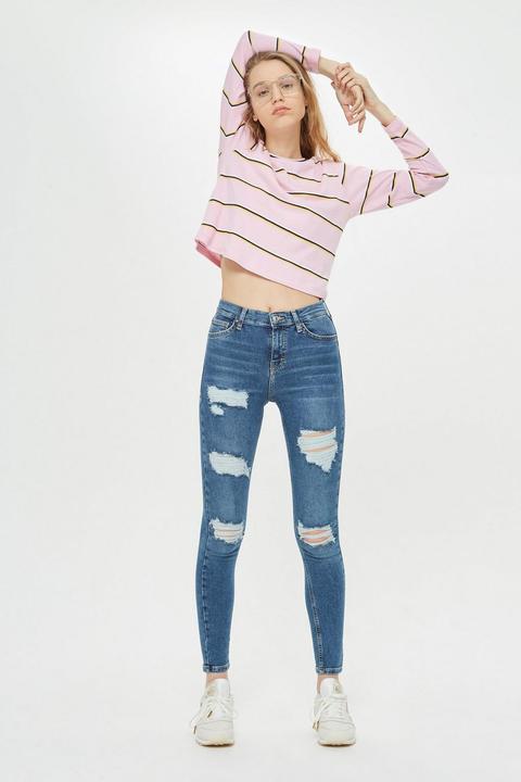 Blue Super Rip Jamie Jeans de Topshop en 21 Buttons