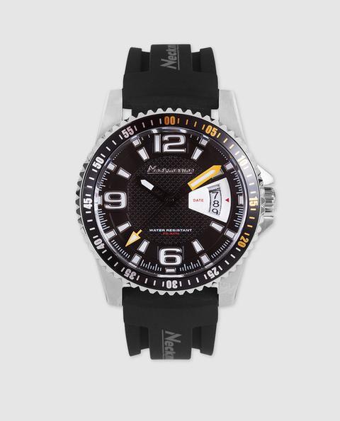 Neckmarine - Reloj De Hombre Nm3385m02 De Caucho Negro