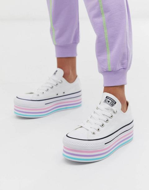 Zapatillas Blancas Con Plataforma Alta Chuck Taylor All Star De Converse de ASOS en 21 Buttons