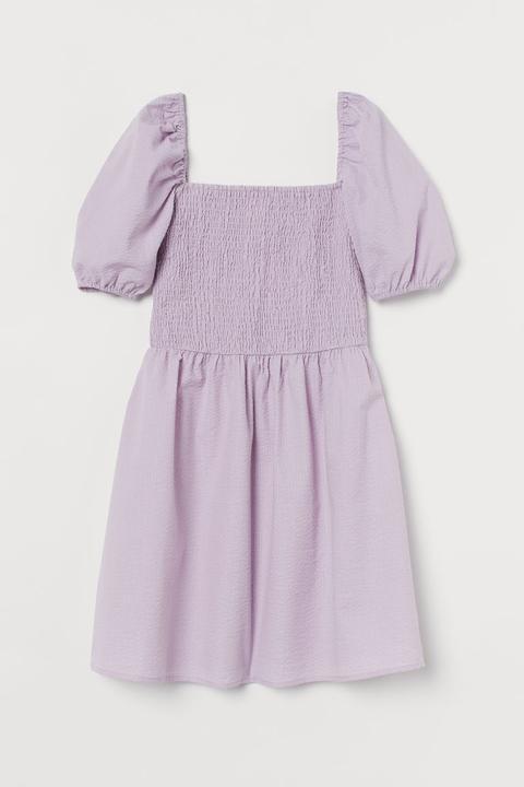 Vestido Con Manga Puffy - Púrpura