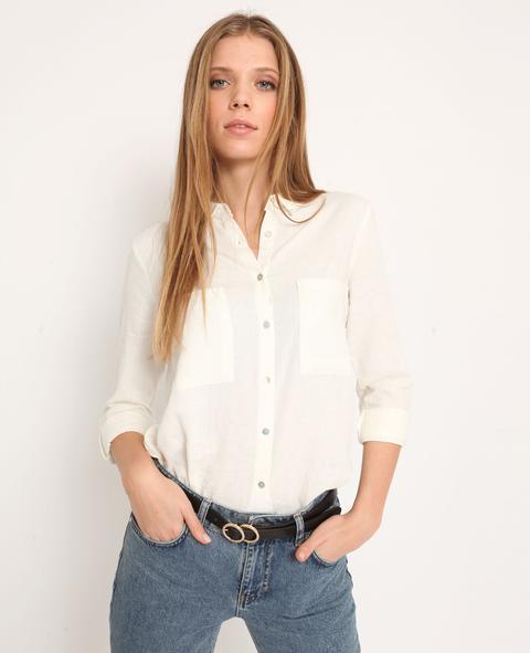 Camisa 55% Lino Mujer