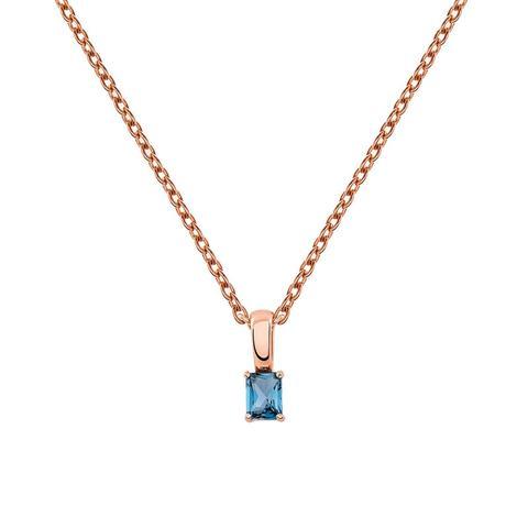 Colgante Topacio Azul Plata Recubierta Oro Rosa de Aristocrazy en 21 Buttons