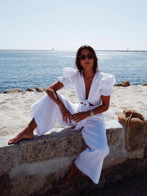 Pantalones Lino Blancos de KAOA en 21 Buttons