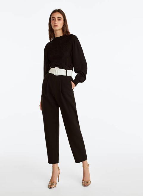 Pantalón Cinturón Contraste