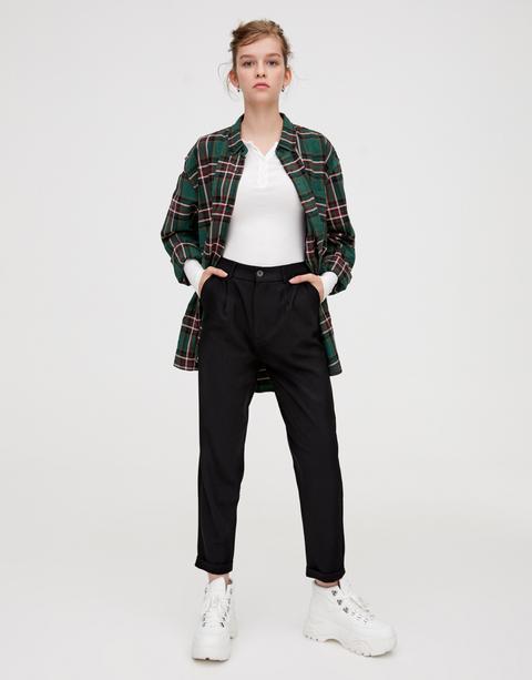 Pantalón Tailoring Pinzas Negro