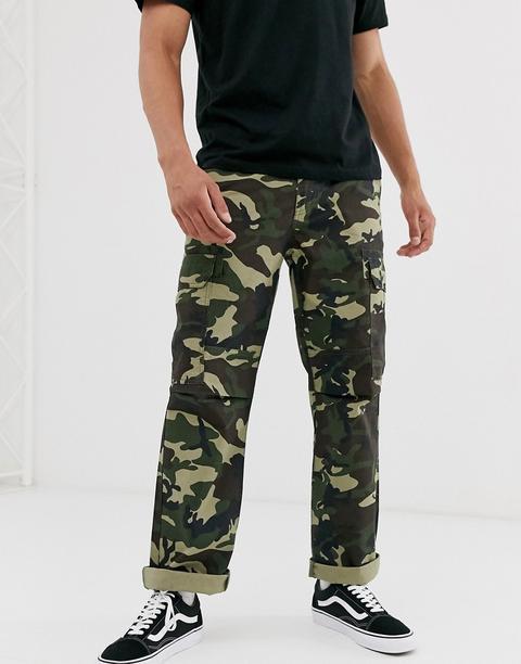 Pantalones Cargo Con Estampado De Camuflaje New York De Dickies-verde
