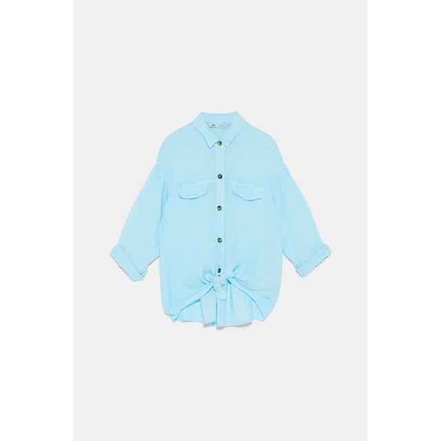 Camisa Lino Nudo de Zara en 21 Buttons